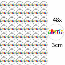 *48 x HAPPY BIRTHDAY EDIBLE FAIRY CUP CAKE TOPPERS * FREE DELIVERY INCLUDED!*