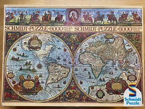 SCHMIDT PUZZLE 6000 Piece Jigsaw World Historical Map Vintage West Germany RARE