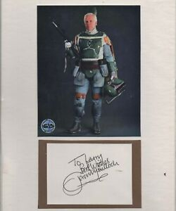 STAR WARS - JEREMY BULLOCK personally signed card + picture display - vgc