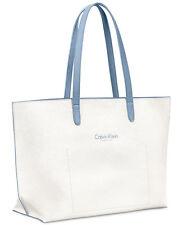 Calvin Klein Fragrance Promotion Large Tote Bag Optic White/Blue