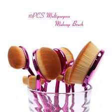 5/10Pcs Toothbrush Pro Beauty Shaped Oval Cream Puff Makeup Brushes Set Gift Box