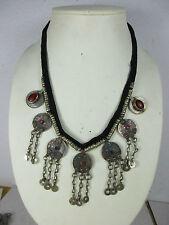 Einzelstück - altes Collier Halskette echte Münzen  Nomaden-Schmuck Tibet-Silber