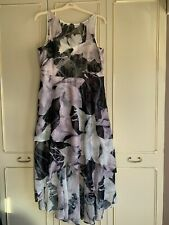 Coast Dipped Hem Floral Dress Size 18 Ex Cond