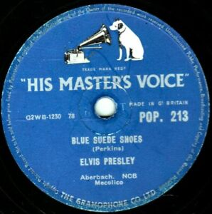 CLASSIC ELVIS PRESLEY 78  BLUE SUEDE SHOES / TUTTI FRUTTI  UK HMV POP213  V/V+