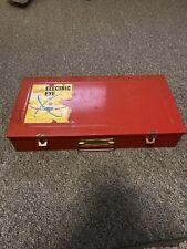 Vintage Red Gilbert Electric Eye Metal Box Case, Usa, Ac Gilbert Co