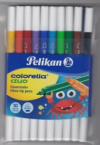 Pelikan 10 Colorella Duo Fasermaler/Filzstifte/Doppelmaler, bunt sortiert