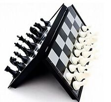 Mini Chess Board Folding Magnetic Board Game Travel Set 5x5 Inches US Seller