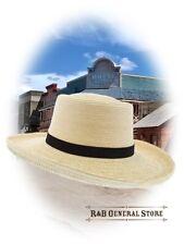 Old West Style Damen Strohhut natur mit kleiner Krempe Western Cowboy Hut