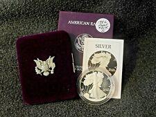 1986 American Eagle Silver Proof Dollar w/ box COA