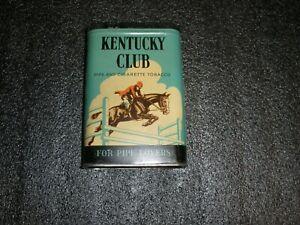 Vintage Kentucky Club Pipe & Cigarette Tobacco Tin