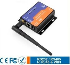 Serial RS232 RS485 to WIFI Wireless 802.11 b/g/n and Ethernet TCP/IP Converter