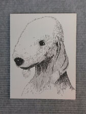 BedlingtonTerrier Pen + Ink Stationary Cards, Note Cards, Greeting Cards. 10pk.