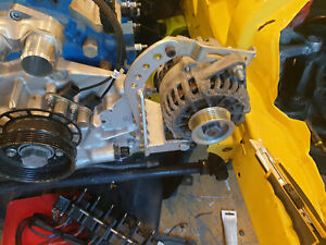 Sidemount bracket and alternator Mazda rx7 13b-rew