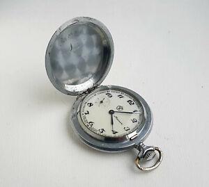 Vintage Soviet mechanical pocket watch MOLNIJA. 18 jew.  USSR