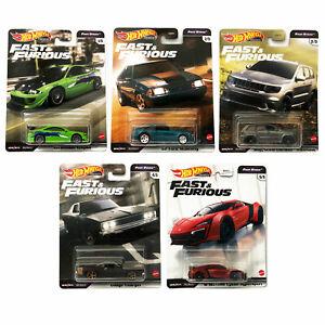 Hot Wheels Premium Fast & Furious Rapide Stars 1:64 Cars Choisissez Votre Favori