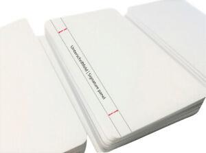 Plastikkarten WEISS mit Unterschriftfeld | 1 - 100 Stück
