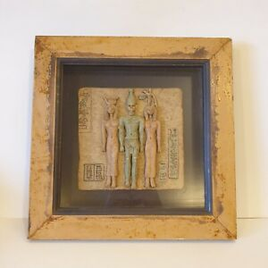 Egyptian Pharaoh Tomb 3D Framed Picture Stone Tablet Relic Hieroglyph Wall Art