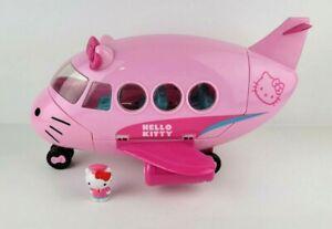 Hello Kitty Airplane Jumbo Jet Plane Toy Sanrio 2014 Pink Playset Passenger