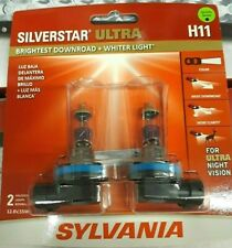 SYLVANIA H11 SilverStar Ultra Halogen Headlight Bulb, Pack of 2 NEW Sealed L@@K!