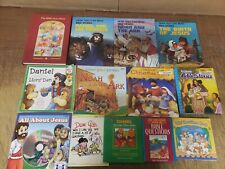 Lot of 25 Christian Prayer Bible Jesus Story Children Kid Books MIX UNSORTED KB3