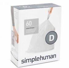 Simplehuman Extra Strong Bin Liners - Size D - 20 Litre - Pack of 60