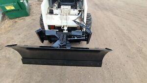 new heavy  6 ' four way dozer blade plow for skid steer fits John Deere Bobcat
