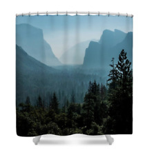 Blue Valley Shower Curtain