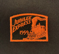 Vintage 1959 BSA Boy Scouts Of America JUBILEE EXPRESS Train Patch EUC