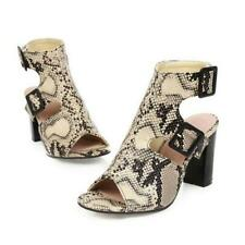 Womens Ankle Buckle Slingback High Block Heels Sandals Boots Party Roman Shoes