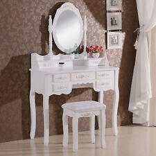 Coiffeuse table de maquillage avec miroir et tabouret 90 x 144,5 x 40cm MB6026cm