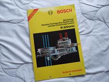 BOSCH K JETRONIC TECHNICAL INSTRUCTIONS VW GOLF GTI AUDI ETC