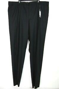 NWT Zanella Mens Dress Pants 46 Tommy Black Subtle Plaid Super 120s Wool UNF
