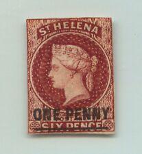 St Helena 1863 SC 8 mint imperf OG wmk 1 crown and CC 17 mm.  f2015