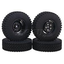 4pcs 1.9 inch 4 Holes Wheel Rim+98mm Rubber Tire for RC1:10 Rock Crawler