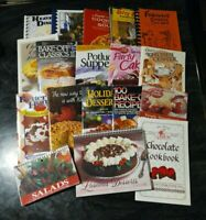 Mixed Lot of 17 Cookbooks and Church Fundraiser Recipe Books - Some Spiral Bound
