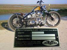 ULTIMA DATA PLATE RIGID / trike HARDTAIL FRAME HARLEY Bobber Sportster