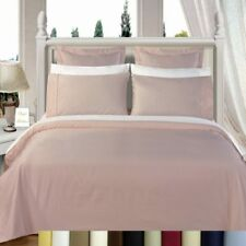Luxury 600 Thread Count Cotton Solid Bed in a Bag Set; Down Alternative Insert