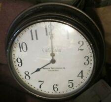 "vintage Telechron School Industrial Wall Clock model M1 movement 16"" diameter"