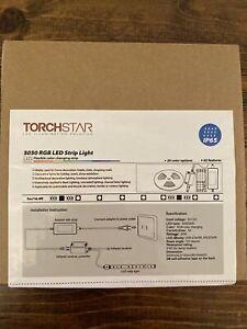 TORCHSTAR IP65 Waterproof LED Strip Light 12V 5050 SMD 300LEDs/pc 16.4ft