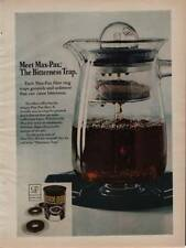 1972 Max-Pax Ground Coffee Filter Rings Vintage Magazine Ad Page Bitterness Trap