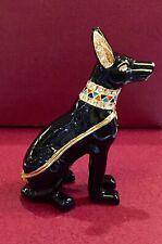 Egyptian Cat Bastet Jeweled Pewter Trinket Box