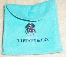Vintage Tiffany & Co. Sterling Panda Bear TIE TAC TACK LAPEL PIN with Pouch