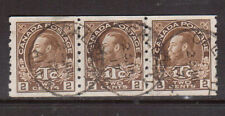 Canada #MR7a Very Fine Used Coil Strip Of Three With Ideal July 23 1916 CDS