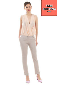 RRP €145 REBEL QUEEN By LIU JO Tailored Trousers Size 42 / M Flat Front Zip Fly