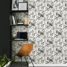 Chevron Papier Peint Rasch 304107 Géométrique Vague Noir et Blanc