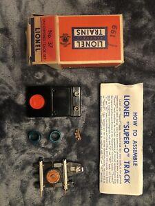 "Vintage ""RARE"" Lionel No. 37 Uncoupling Track Set for Super 0 ""NEW"""