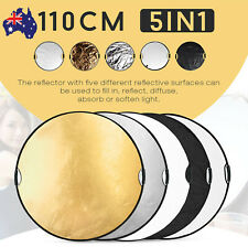 110CM 5 in1 Studio Photography Collapsible Light Round Reflector & Handle grip