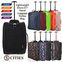 Set of 3 Fits 56x45x25 EasyJet Trolley Cabin Approved 2Wheeled Hand Hold Luggage