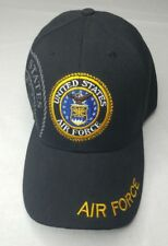 New Military Ball Cap Embroider UNITED STATES- AIR FORCE Black Hat Shadow design