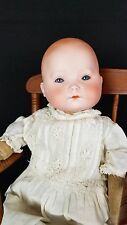 Antique Doll German Bisque Porcelain RARE Baby 1900s- 'W Weyh' Cloth with Straw